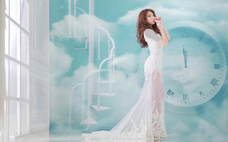 مدل لباس عروس کره ای 2017 model lebas aroos korei