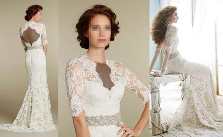 لباس عروس 2016 تمام گیپور lebas aros geipor