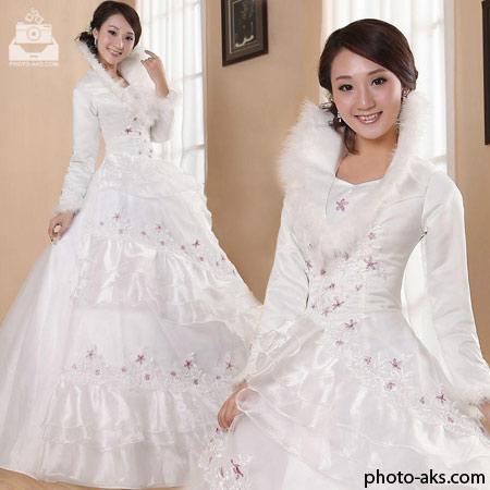 لباس عروس پوشیده کره ای wedding dress korean