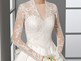 لباس عروس دانتل آستین دار