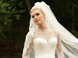 لباس عروس آستين بلند تور دانتل