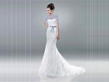 لباس عروس با روبان توسی