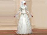 لباس عروس عربی آستین بلند