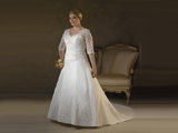 مدل لباس عروس برای چاق ها