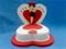 کیک تولد همسر - طرح قلب