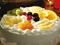 کیک خامه ای با تزئین میوه