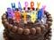 کیک تولد شکلاتی خانگی ساده