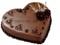 کیک کاکائویی قلب