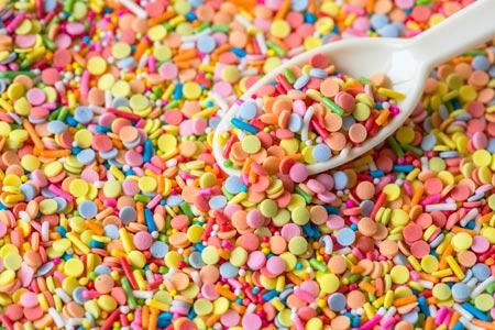 آبنبات رنگارنگ خوشمزه candy colorful scoop