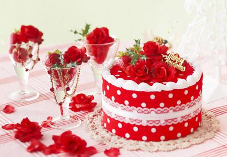 عکس کیک قرمز عاشقانه love red cake