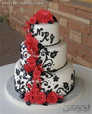 کیک عروسی سه طبقه wedding cake