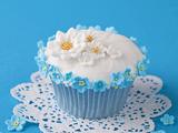 عکس کیک و شیرتی آبی
