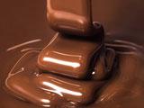 پس زمینه شکلات مایع خوشمزه