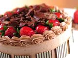 کیک خانگی کاکائویی با تزئین زیبا