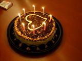 کیک تولد نامزدی قلب