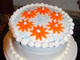 مدل تزیین کیک یک طبقه با خامه