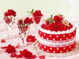 عکس کیک قرمز عاشقانه