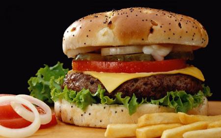 ساندویچ چیز برگر فست فود cheeseburger sandwaich fast food