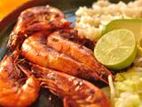 غذای دریایی با میگو