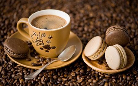فنجان قهوه بیسکویت کرمدار cup of coffee