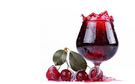عکس آب میوه گیلاس cherry fruit drink