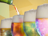 لیوان نوشیدنی خنک رنگی