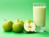 عکس آب میوه سیب سبز
