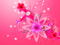 والپیپر صورتی گلها زیبا