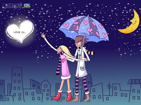 عکس عاشقانه کارتونی کودکانه  aks asheganeh kartoni