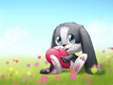عکس کارتونی خرگوش و قلب