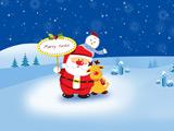 عکس کارتونی کریسمس و بابانوئل