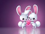 والپیپر عاشقانه خرگوش ها