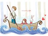 عاشقانه دختر پسر در قایق