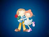 عشق کارتونی دختر و پسر