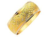 مدل دستبند طلا عروس نگین دار