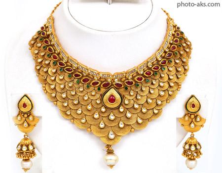گردنبند طلای هندی indian gold necklace