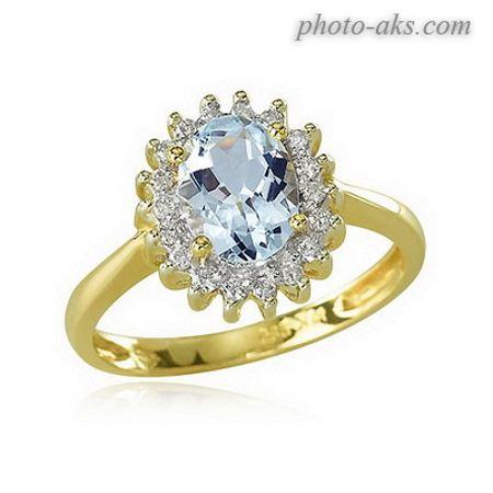 حلقه طلا با نگین الماس halge neghin dar