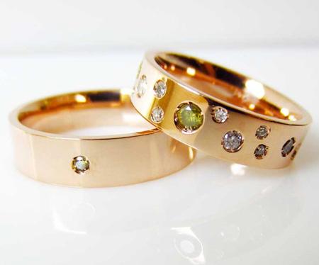 شیک ترین ست حلقه ازدواج rings wedding gold diamonds