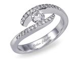 انگشتری الماس نقره ای