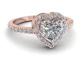 حلقه زیبا با طرح قلب نگین دار