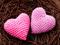 دو قلب صورتی عاشق