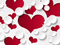 عکس قلب های قرمز حبابی