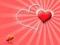 والپیپر عاشقانه قرمز و صورتی قلب