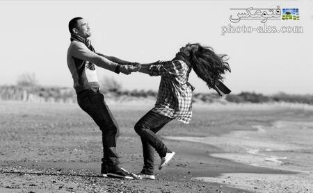 عکس شاد عاشقانه سیاه و سفید black and white love