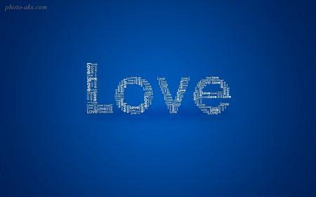 عکس لاو با زمیه آبی blue love