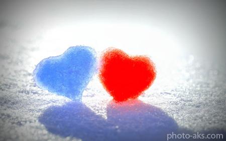 عکس عاشقانه 93 snow heart love