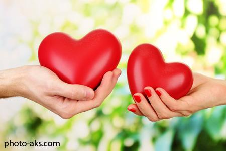 عکس های عاشقانه قلب ها love heart in hands