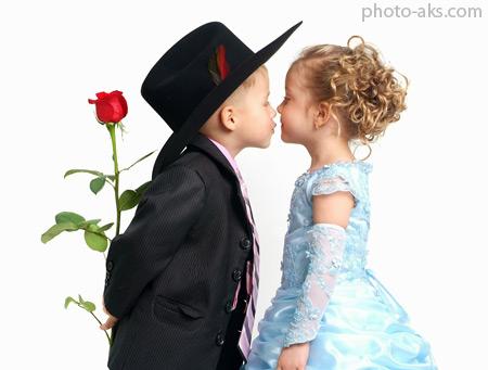 بوسه عاشقانه عروس و داماد love kiss girl boy