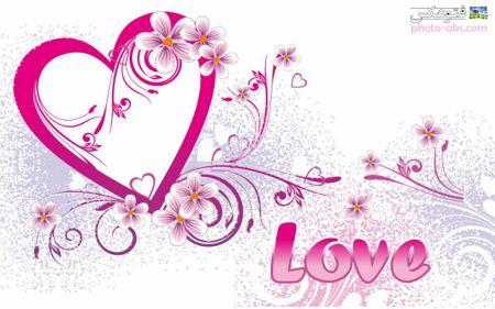 والپیپر لاو صورتی pink love wallpaper