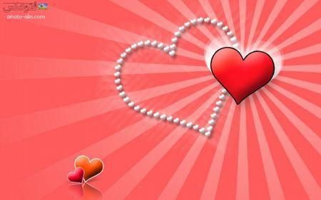 والپیپر عاشقانه قرمز و صورتی قلب  lovly pink red heart